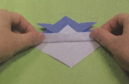 折纸头盔的步骤图解法 手工折纸-第4张