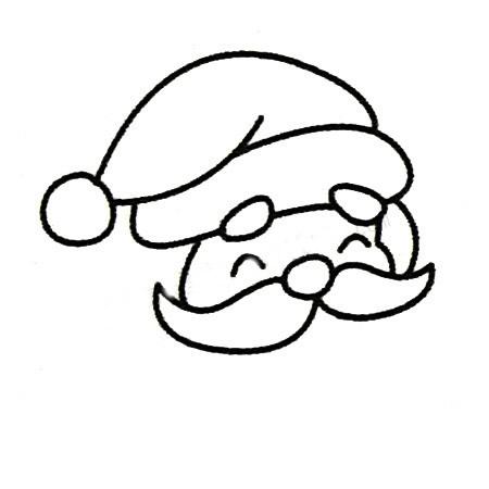 教小朋友画圣诞老人简笔画 中级简笔画教程-第4张