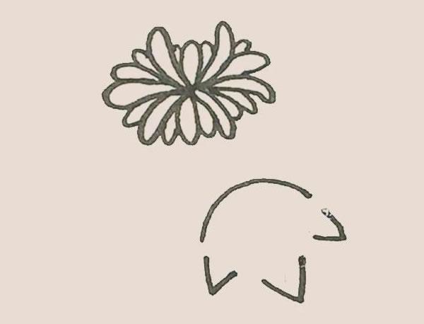 菊花简笔画画法步骤图 中级简笔画教程-第7张