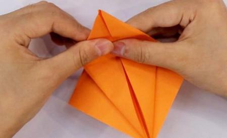 小鸟折纸步骤图解法 手工折纸-第3张