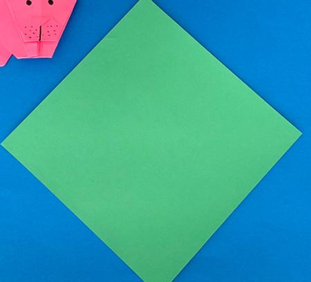 哈巴狗折纸步骤图解 手工折纸-第2张