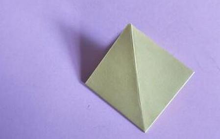 桃心折纸步骤图解 手工折纸-第5张