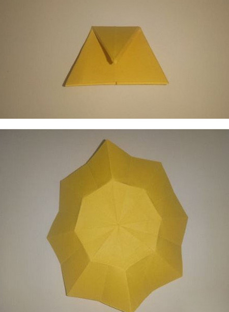 折纸太阳花步骤图解 手工折纸-第5张