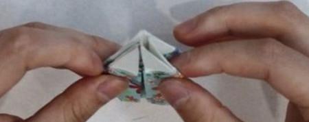 花瓶折纸步骤图解 手工折纸-第11张