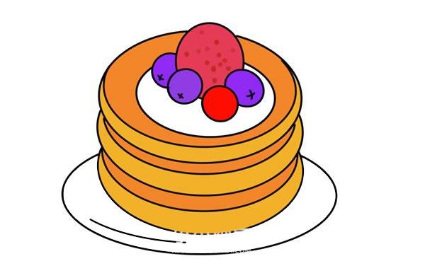 彩色松饼简笔画画法步骤图片