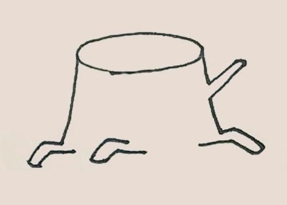 树桩简笔画的画法 初级简笔画教程-第4张