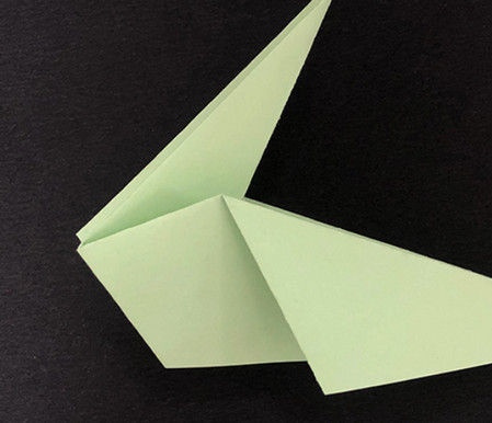 折纸鸽子的折法图解 手工折纸-第7张