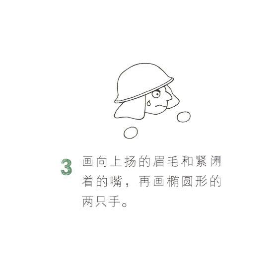 儿童简笔画消防员画法教程 中级简笔画教程-第4张
