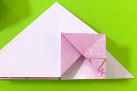 冰淇淋折纸步骤图解法 手工折纸-第6张