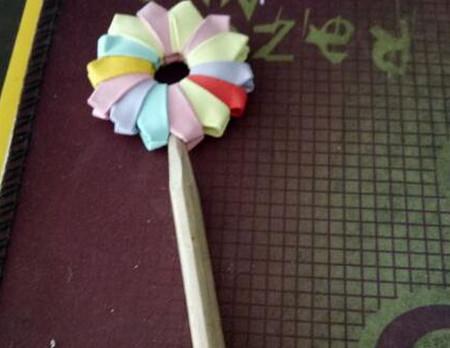 棒棒糖手工折纸步骤图解法 手工折纸-第1张