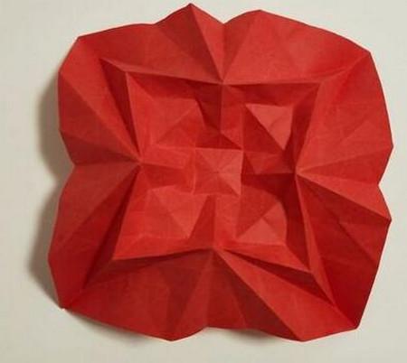 胜利花折纸方法 手工折纸-第4张