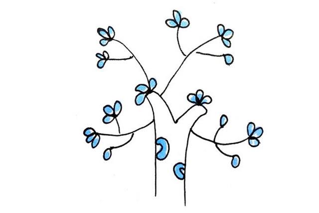 创意树木简笔画图画大全 植物-第3张