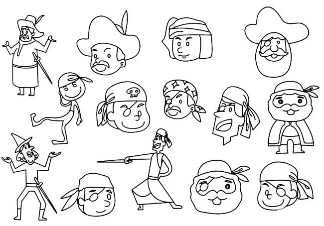 海盗头像简笔画的画法步骤 人物-第6张