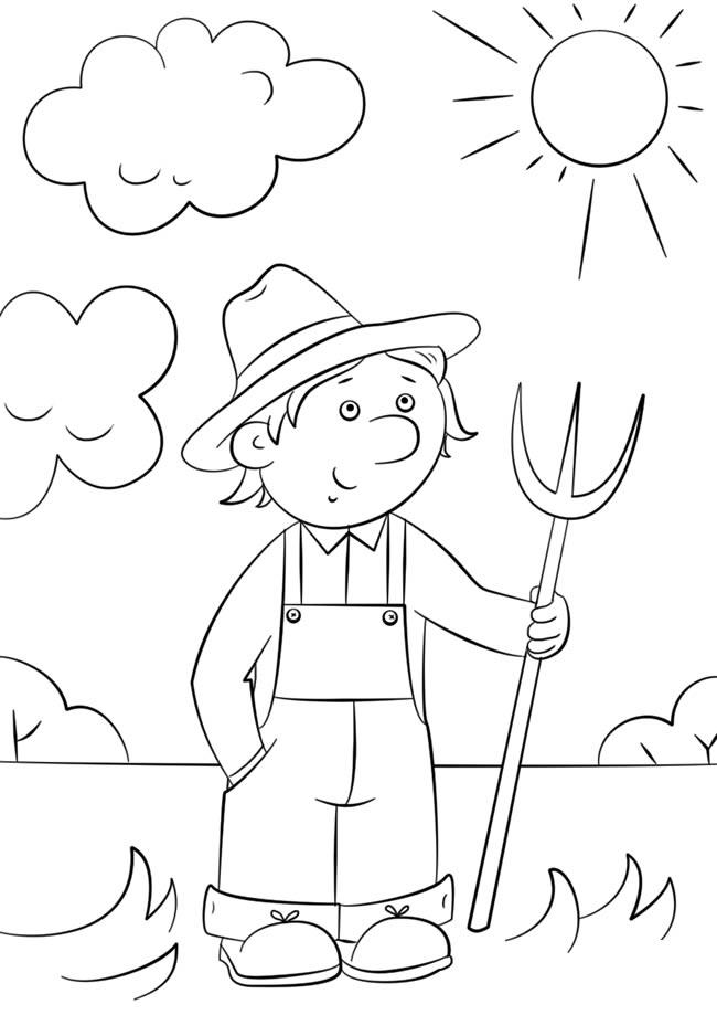 卡通农民简笔画绘画教程 人物-第1张