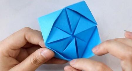 儿童手工折纸花球步骤图解 手工折纸-第7张