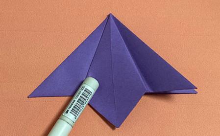 牵牛花折纸步骤图解法 手工折纸-第7张