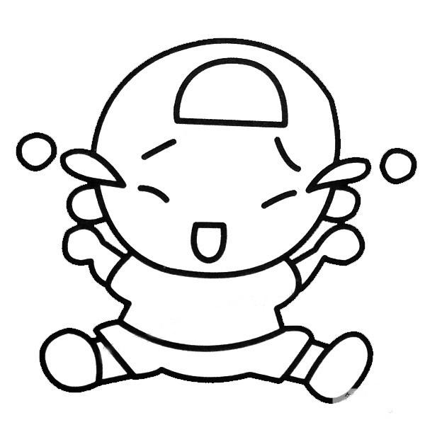 小宝宝简笔画彩色图片 人物-第2张