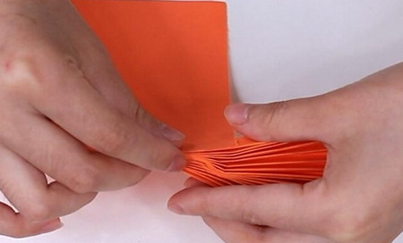 伸缩扇子的折法图解 手工折纸-第11张