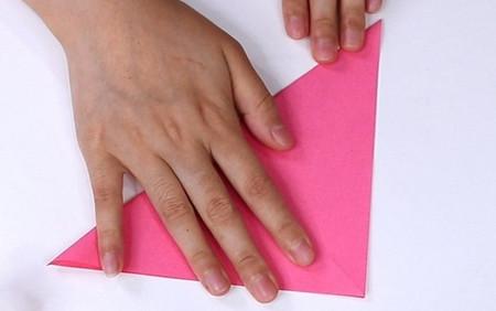 儿童手工折纸心形盒子的折法图解 手工折纸-第2张