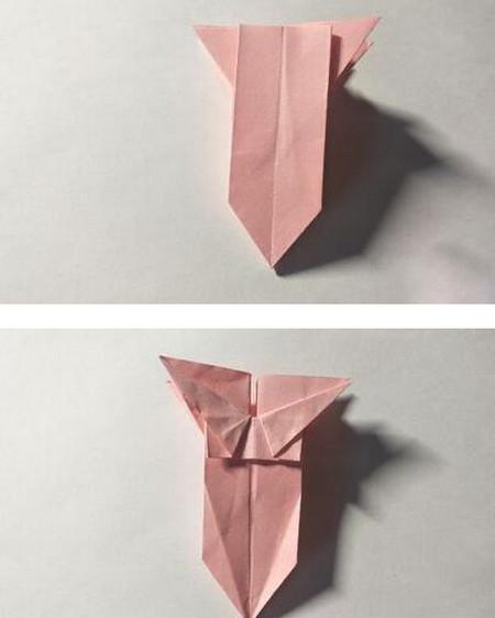 五角星花折纸教程图解 手工折纸-第11张