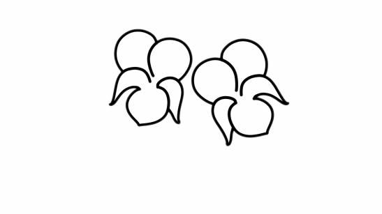 紫罗兰盆栽简笔画彩色画法步骤图片 中级简笔画教程-第3张