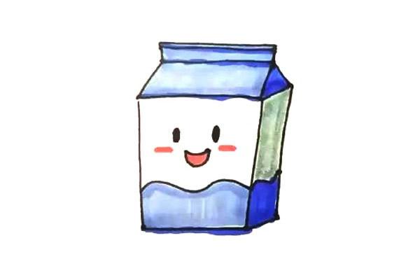 盒装牛奶简笔画
