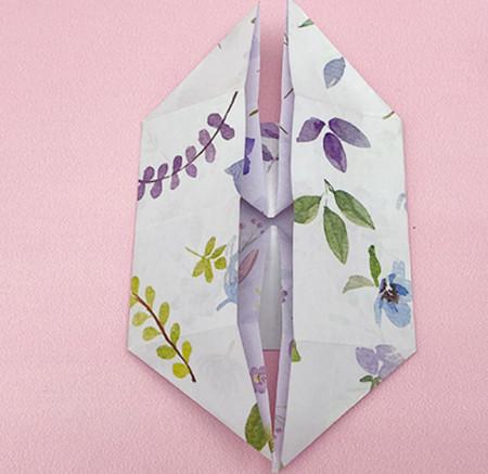 四角星折纸步骤图解 手工折纸-第5张
