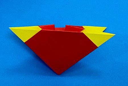 立体无限翻转手工折纸图解 手工折纸-第7张