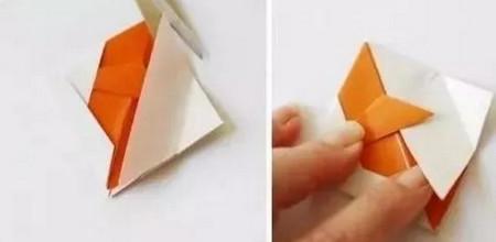 小鱼折纸步骤图解 手工折纸-第7张