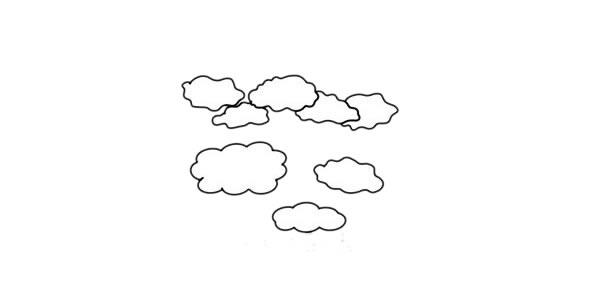 彩色柞树简笔画的画法步骤教程 中级简笔画教程-第3张