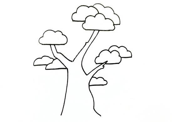 简单易学的松柏树画法步骤 中级简笔画教程-第3张