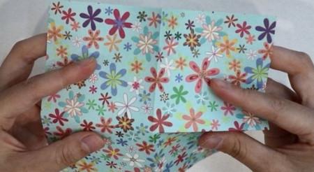 花瓶折纸步骤图解 手工折纸-第3张