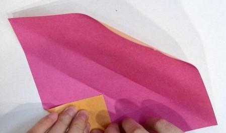 长方形信封的折法图解 手工折纸-第3张
