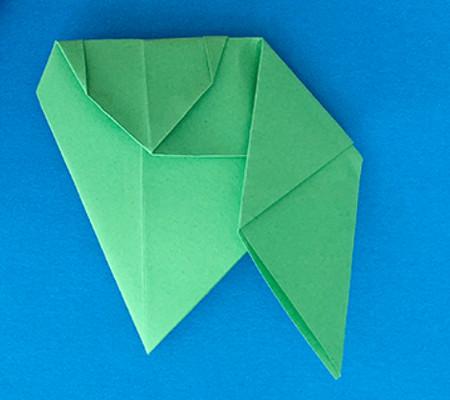 哈巴狗折纸步骤图解 手工折纸-第13张