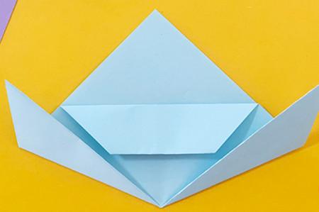 简单手工折纸小狗的步骤图解 手工折纸-第7张