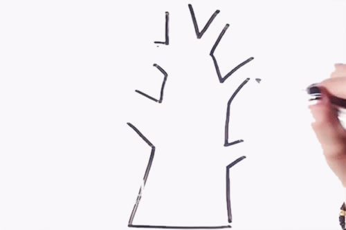 简单易学的大树儿童简笔画 中级简笔画教程-第3张
