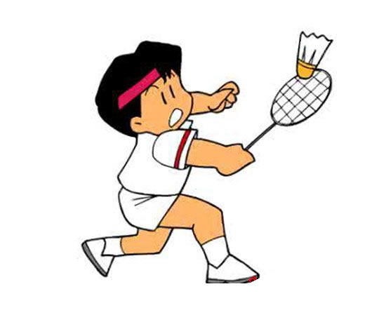 羽毛球运动员简笔画彩色 中级简笔画教程-第5张