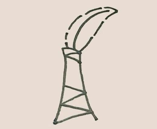 芭蕉树简笔画的画法步骤图教程 中级简笔画教程-第5张