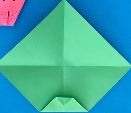 哈巴狗折纸步骤图解 手工折纸-第4张