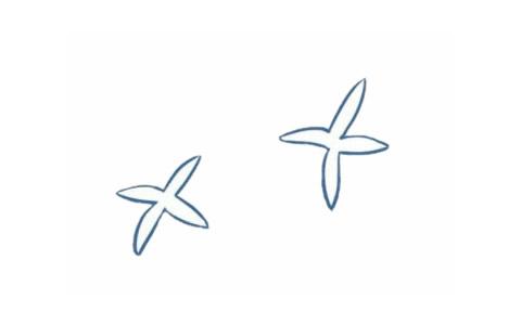儿童简笔画兰花画法 中级简笔画教程-第2张