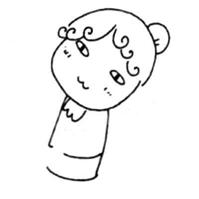 服务员儿童简笔画图片 中级简笔画教程-第4张