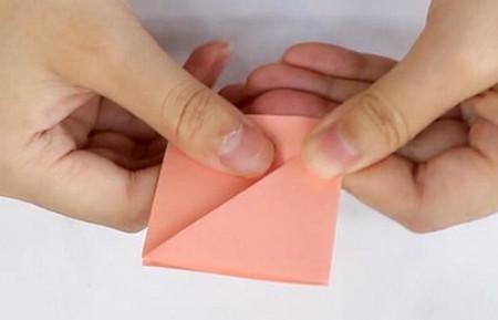 康乃馨手工折纸花步骤图解 手工折纸-第2张