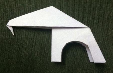 折纸大象的折法步骤 手工折纸-第8张