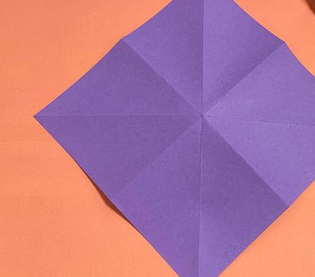 牵牛花折纸步骤图解法 手工折纸-第2张