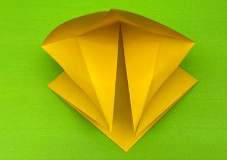 乌鸦手工折纸步骤图解 手工折纸-第6张
