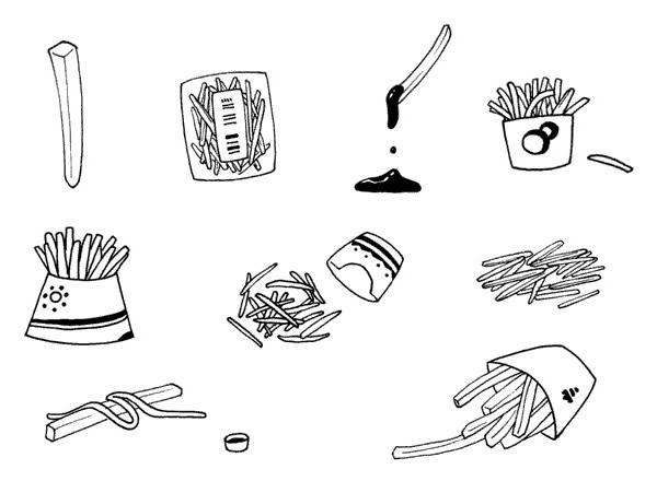 简单的薯条简笔画画法 初级简笔画教程-第8张