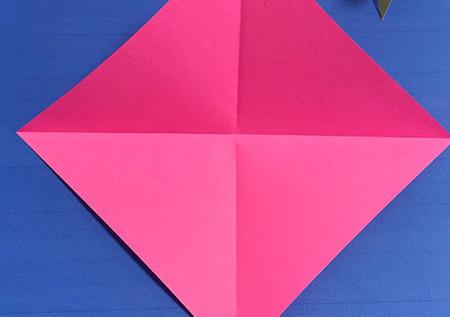 花骨朵折纸的折法图解 手工折纸-第2张