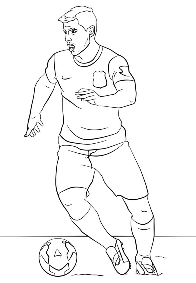 足球运动员简笔画图片 人物-第8张