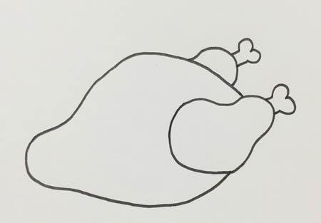 烤鸡怎么画简单又好看-烤鸡简笔画