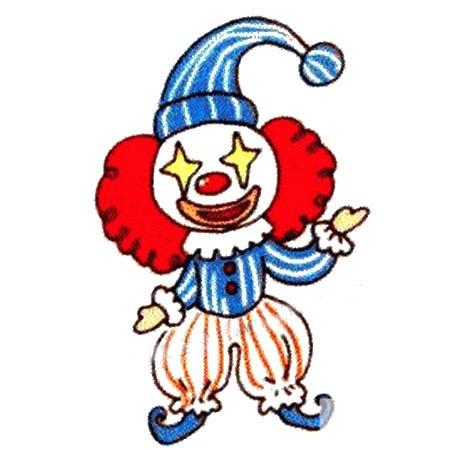 马戏团小丑简笔画图片 人物-第1张